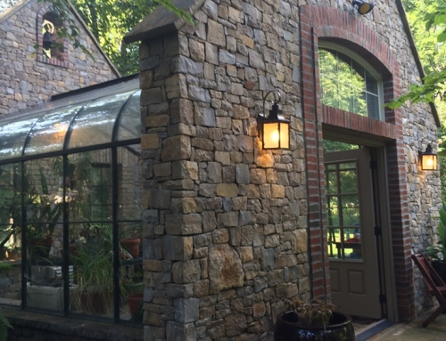 Stonework Glass Atrium